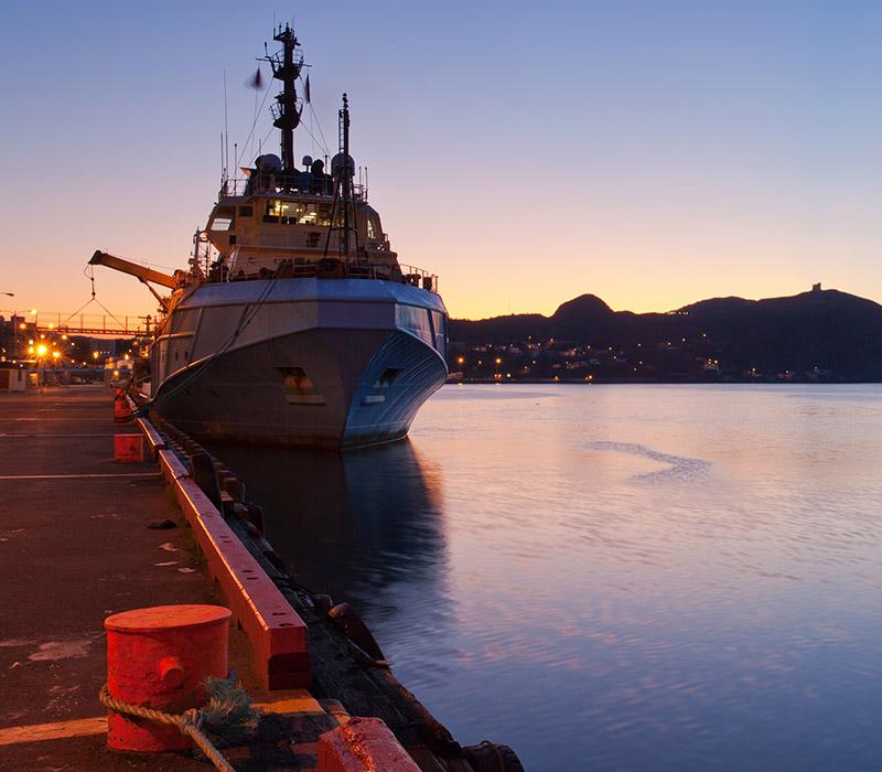 Oil supply vessel in St. John's Harbour.