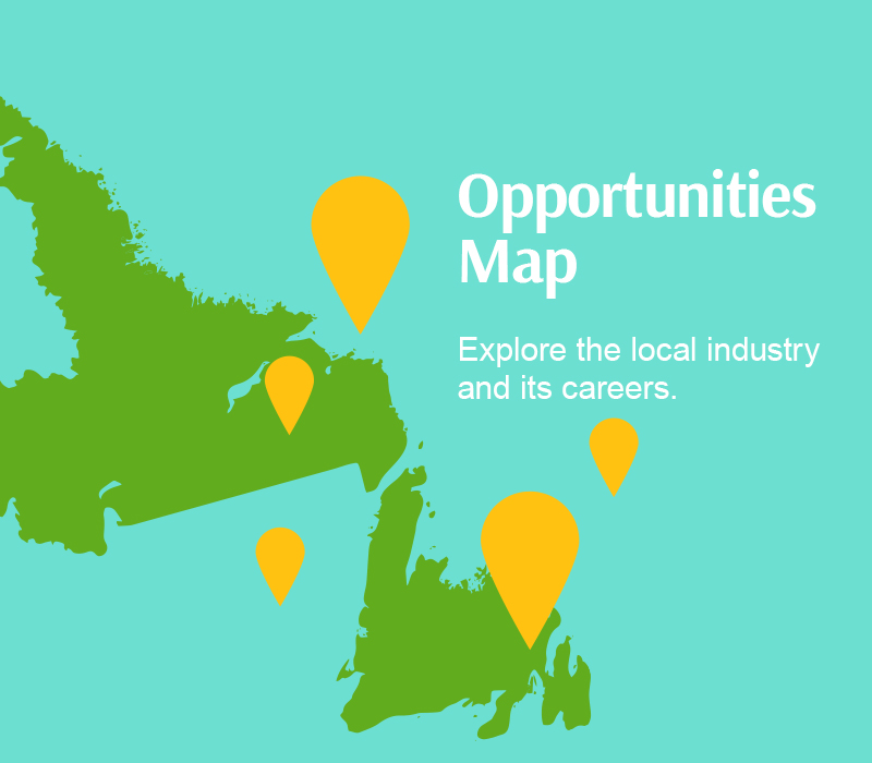 Opportunities map. Explore the local industry and it's careers.