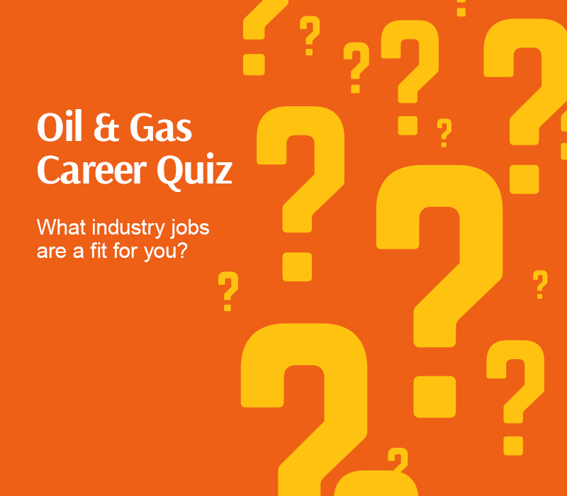 Oil and Gas Career Quiz graphic. What industry jobs are a fit for you?